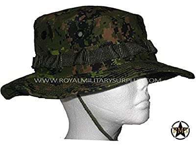 Royal Military Surplus Boonie Hat - Canada Army Digital Camouflage - Airsoft & Paintball Gear - CADPAT (Temperate Woodland)