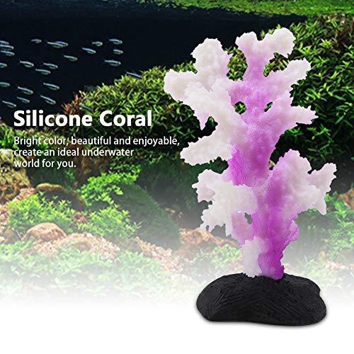 HEEPDD Simulatie Aquarium Koraal Anemoon Siliconen Lichtgevende Bionische Planten Vistank Landscaping benodigdheden Aquarium Ornament