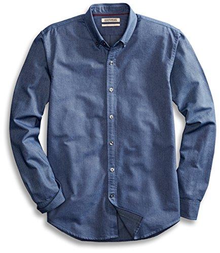 Goodthreads Regular-Fit Long-Sleeve Solid Oxford Shirt Hemd, Indigo, Large