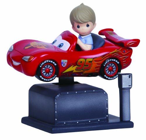 Precious Moments, Disney Showcase Collection, Lightning McQueen Kiddie Ride, Resin Music Box, 134101