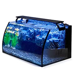 🐠【Hygger Aquarium Kit Includes】one 7W 110GPH internal power filter pump, one colored led aquarium light, one 8 gallon glass tank with a decorative 3D rockery mountain background. The 3D background makes the whole aquarium looks cool like a dream word...