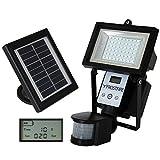 Frostfire ultra brillantes 80 LED digitales con detector de movimiento y alimentado por energía solar
