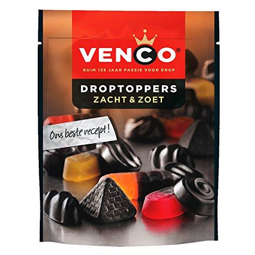 Venco Droptoppers Zacht & Zoet Lakritz-Mix 255g Süße und Weiche mix aus holländische lakritz