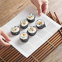 Bigsweety プラスチック製寿司ロールマット ロールモデル 寿司キッチン DIY 寿司ローリングマット クッキングツール ホワイト