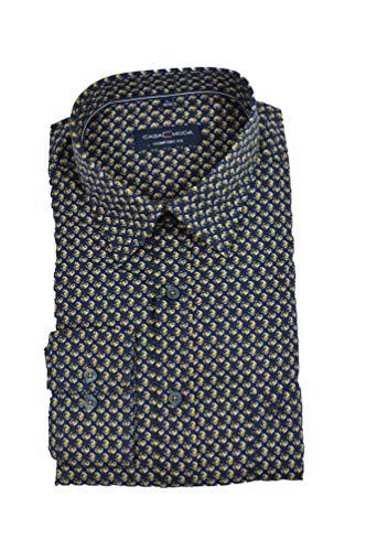 Casa Moda - Comfort Fit - Herren Freizeit Hemd mit Kent Kragen (403556500), Größe:XL, Farbe:Gelb (500)