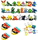 【Matériel】Les bracelets sont fabriqués avec du silicone de haute qualité. Sûr, non toxique, doux et flexible. 【Paquet】Cet ensemble Pokémon comprend des 24 pièces Pokémon Mini Figures Action Figurines, des 12 pièces bracelets Pokémon et des 6 pièces P...