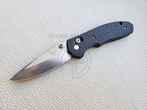 Custome scales, handle for Benchmade Mini Griptilian knife, Model MINI, CF (Knife not included)