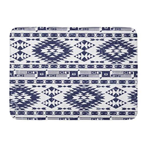 Goodshope Deurmatten Badtapijten Outdoor/Indoor Deur Mat Navajo Etnisch Patroon Amerikaanse Indiase Motieven Aztec Tribal Bleke Gamma Grafische Ikat Badkamer Decor Anti-lip Tapijt 16