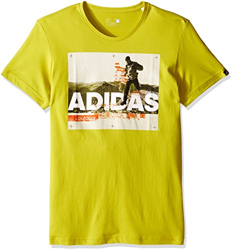 adidas Outdoor Men's Trail Running T-Shirt, Unity Lime, Medium