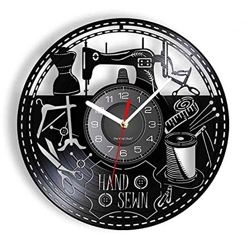 hhhjjj Máquina de Coser de Vinilo, Herramienta de Costura inspiradora, Reloj de Pared, Estudio de Arte, decoración de la habitación, Reloj de Bolsillo, Regalo Personalizado