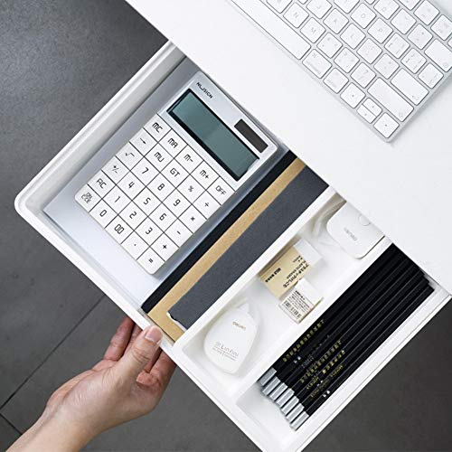 Honlibey Under Desk Drawer Self-Adhesive Under Desk Pencil Drawer Tray Under Desk Storage Attachable Hidden Drawer Under Desk for Office School Home Kitchen Large Size