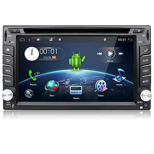 Voiture stéréo YUNTX Double Din dans la Navigation GPS Dash avec caméra arrière, 2 Go 16 Go Android 7.1 Unité Centrale avec écran Tactile multipoint de 6,2 Pouces, autoradio, Lecteur CD