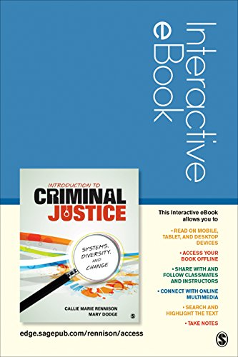 Introduction to Criminal Justice Interactive eBook Student Version: Systems, Diversity, and Change