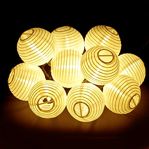Quizinary (TM) 16FT Solar Powered Garden Stake String Lights I Waterproof IP44 20LEDs Mini Lanterns Fairy String Lights for Outdoor & Home Decoration