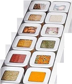 QFDM Bouteilles, Pots et boîtes 12 PC Carte DE Stockage Cuisine de l'organisateur de Nourriture Bouteille de Rangement (Co...