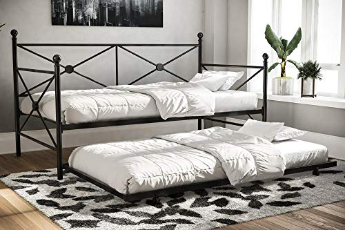 DHP Sturdy Modern Metal Daybed with Trundle