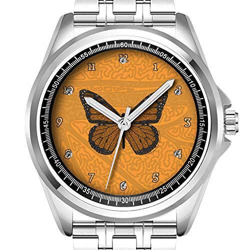 Personalisierte Herrenuhr Mode wasserdicht Uhr Armbanduhr Diamant 457. Gekritzelte Monarch-Uhr