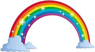 innersetting 40x60cm Self-adhesive Wall Sticker Rainbow Decal Children Room Home Decor