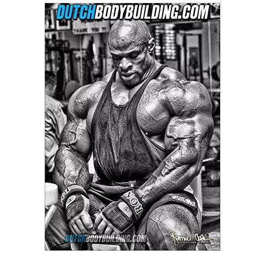 YXFAN Ronnie Coleman Bodybuilding Muscle Art Película Lienzo Pintura Arte de la pared Póster Imprime imágenes para la sala de estar Decoración del hogar -20x30 IN Sin marco