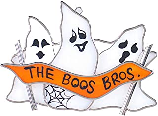 Stained Glass Ghost Suncatcher - The Boos Brothers