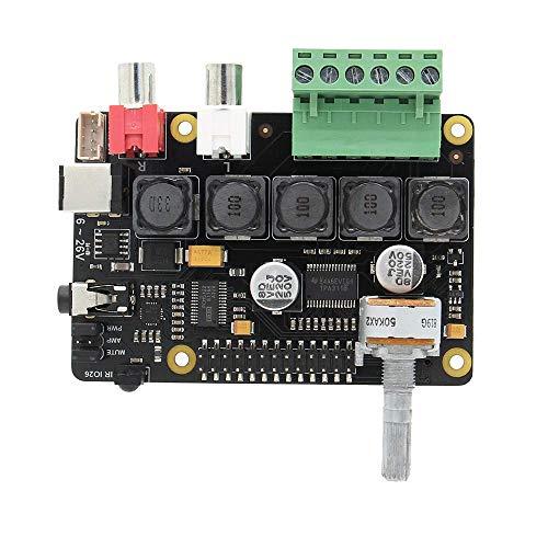Geekworm Raspberry pi 4モデルB(ラズベリーパイ4) 3B+ / 3B フル-HD DAC アンプ、X400 V3.0 オーディオ拡張ボードのサウンドカード、ラズパイ4モデルB / 3B + / 3B用ミュージックプレーヤー