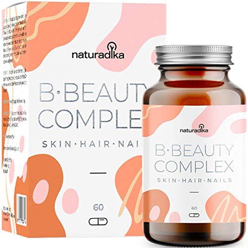 B·Beauty Complex Cabello, Piel y Uñas | Efecto Crece Pelo y Fortalecedor de uñas | Biotina, Extractos y Vitaminas para el Cabello y la Piel | Ingredientes con Resultados Científicamente Testados