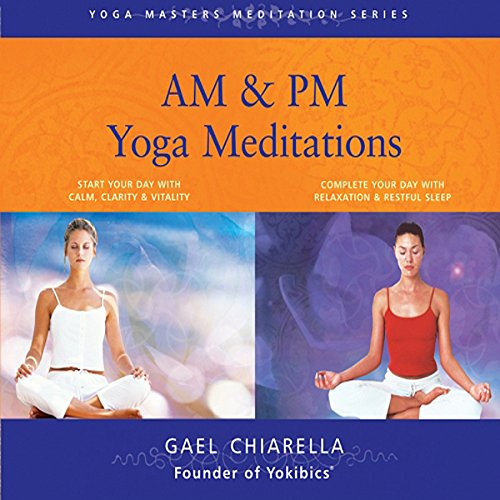 AM & PM Yoga Meditations  audiobook cover art