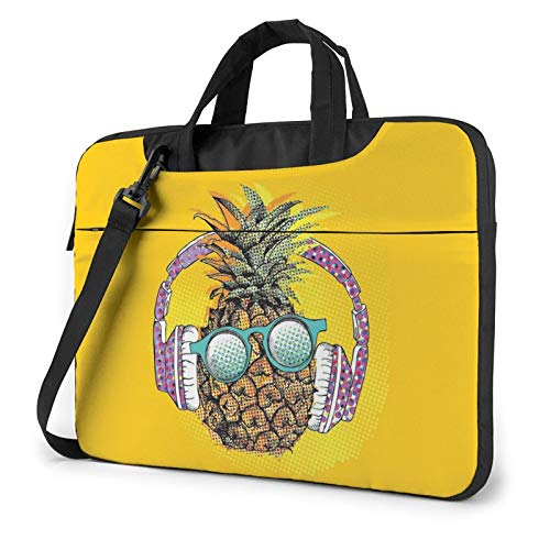 XIAONI Colorful Pineapple Laptop Shoulder Bag Compatible with 13-15.6 Inch MacBook Pro,MacBook Air,Notebook Computer,Removable Shoulder Strap Waterproof Carrying Briefcase Sleeve for Men Women
