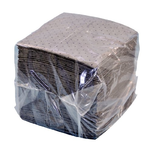 """NPS SFG-70 Spilfyter Universal Sorbent Streetfyter Single Weight Dimpled Pad, 18"""" Length x 16"""" Width, Gray (Bag of 200)"""
