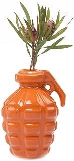 Chive - Kapow Fun Porcelain Grenade Shape Simple Modern Flower Bud Vase (Orange)