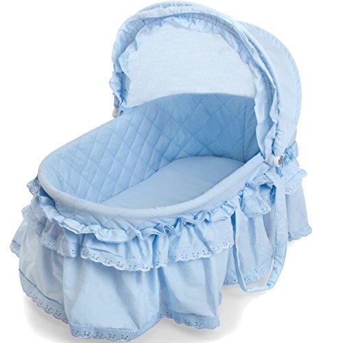 Berceau lit bébé en osier de style romantique avec fonction balancelle (couffin...