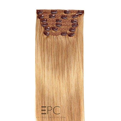 Extensions à clip cheveux naturels Blond miel- 60cm - 120g