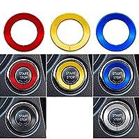 車のスタートストップボタンデコレーションイグニッションリングアクセサリースタイリング、インフィニティQ50 Q60 QX60、日産エンジンステッカー用