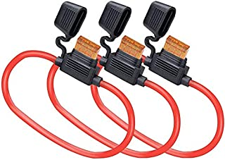 (3 Pack) MCIGICM 10 AWG Inline Fuse Holder with 40A ATC Blade Fuse, Waterproof