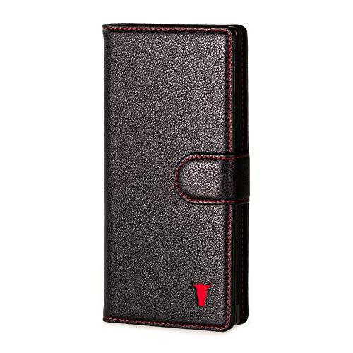 TORRO Leren Portemonnee Hoes Compatibel met Samsung Galaxy Note 10 Plus (Zwart)