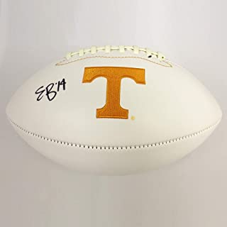Authentic Autographed Eric Berry Tennessee Volunteers White Panel Football ~ JSA