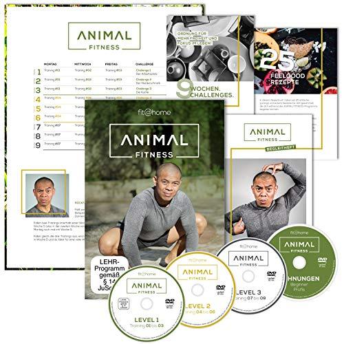ANIMAL FITNESS: Premium Edition. Das effektive 9-Wochen-Ganzkörper-Workout für zu Hause. Tierische Übungen mit hohem Spaß-Faktor für Kraft und Beweglichkeit. Anfänger-Bodyweight-Training. Sport-DVD