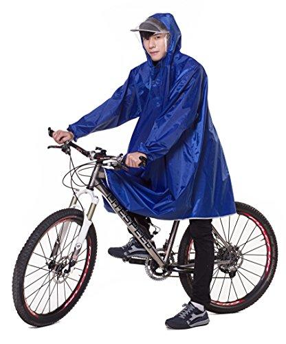 Icegrey Bike Fahrrad Regenjacken Regenponcho Wasserdicht Regenmantel für Die Jagd Camping Freizeit Regenmäntel Regencape 3XL Blau