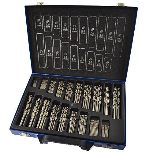 HSS Drill bits set 170pc metric sizes 1mm - 10mm steel wood plastic BERGEN AT251