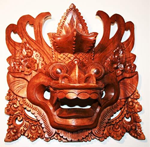 Barong Maske H 26 cm x B 26 cm x T 12 cm handgeschnitzt - Bali - Indonesien - Mystisches Fabelwesen