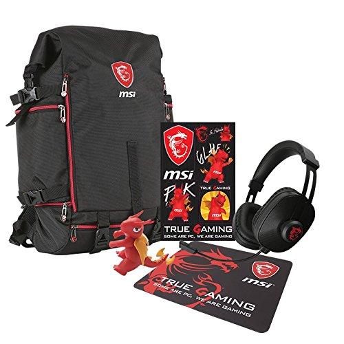 MSI Gaming-Gt Xmas–Pack (Mauspad, Schlüsselanhänger Drache, Sticker und Kopfhörer)