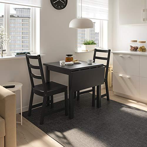 DiscountSeller NORDVIKEN - Mesa plegable (74/104 x 74 cm), color negro, resistente y fácil de cuidar, hasta 4 asientos, mesas de comedor, escritorios, muebles, respetuoso con el medio ambiente.