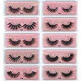 Mink Lashes Wholesale 10 Pairs 3D Mink Eyelashes Dramatic False Eyelashes Reusable Handmade Natural Lashes Fake Eyelashes Easy to Apply (10 styles/package)