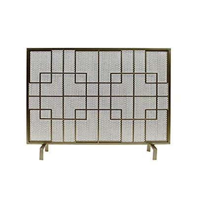 Christopher Knight Home Dorothy Modern Single Panel Iron Firescreen, Gold Finish from Great Deal Furniture