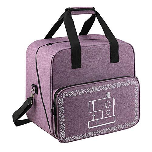 Bolsa de transporte para máquina de coser, funda de viaje con compartimentos y correa para el hombro para máquina de coser y accesorios (se adapta a la mayoría de máquinas de coser estándar)