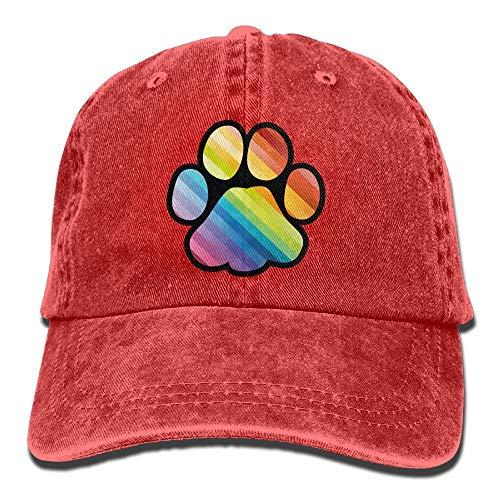 Rainbow Paw Hip Hop Nuevo Sombrero Ajustable de Vaquero para Regalo de Mujer para Hombre