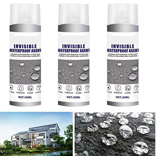 3 espray de unión súper Fuerte a Prueba de Agua: 30 ml, Agente Impermeable Invisible nanopermeable, poderoso sellador en Aerosol para Revestimiento de baños de Paredes Exteriores
