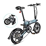 INOVIX Bicicleta Eléctrica Fiido D2s para Adultos, Seis Velocidades, Motor De 250W, 16 Pulgadas 7.5ah Rango De 65 Km, hasta 25 Km/h (Plazo De Entrega 7-10 Días
