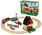 BRIO 33719 Farm Railway Set | Toy Train Set for Kids Age 3 and Up,Green