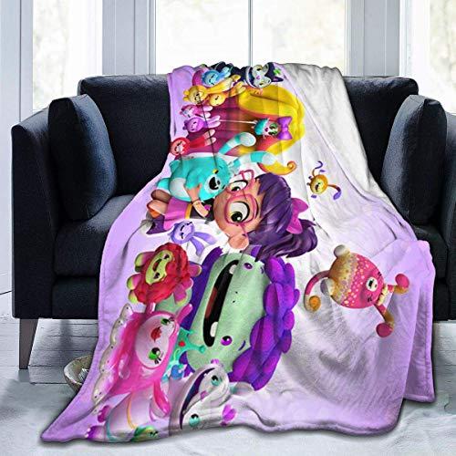 AEMAPE Ultraweiche Micro Fleece Decke A-BBY Hat-Cher Ganzjährige leichte hypoallergene Bettdecke für Couch Bed Sofa 60x80in-5YJ